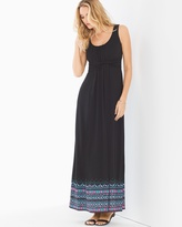 Soma Intimates Sleeveless Wrapped Waist Maxi Dress