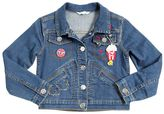 Little Marc Jacobs Stretch Denim Jacket W/ Patches