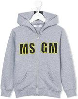 MSGM logo print hoodie - kids - Cotton - 8 yrs