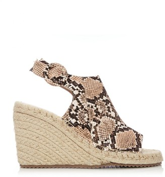 M By Moda Rose Natural Snake Snake Print