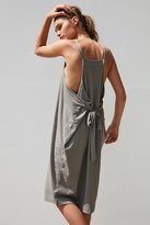 Silence & Noise Silence + Noise Apron Wrap Midi Dress