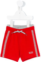 Boss Kids - knitted track shorts - kids - Cotton/Spandex/Elastane - 6 mth