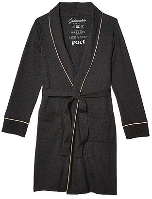 Pact Pocket Robe (Charcoal Heather) Women's Robe