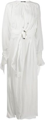 Balmain belted pleated dress