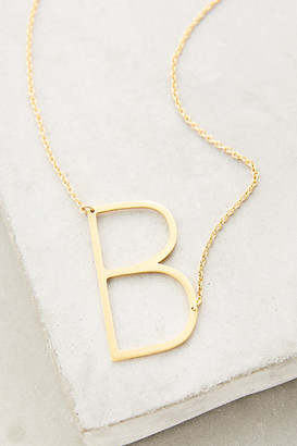 Anthropologie Block Letter Monogram Necklace By in Size 1