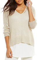 Eileen Fisher V-Neck Box Top