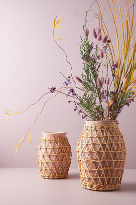 Anthropologie Willow Decorative Vase By in Pink