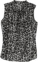 Old Navy Women's Chiffon Leopard-Print Tops
