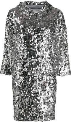 Blumarine Be sequin embroidered mini dress
