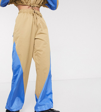Collusion nylon wide leg track pants