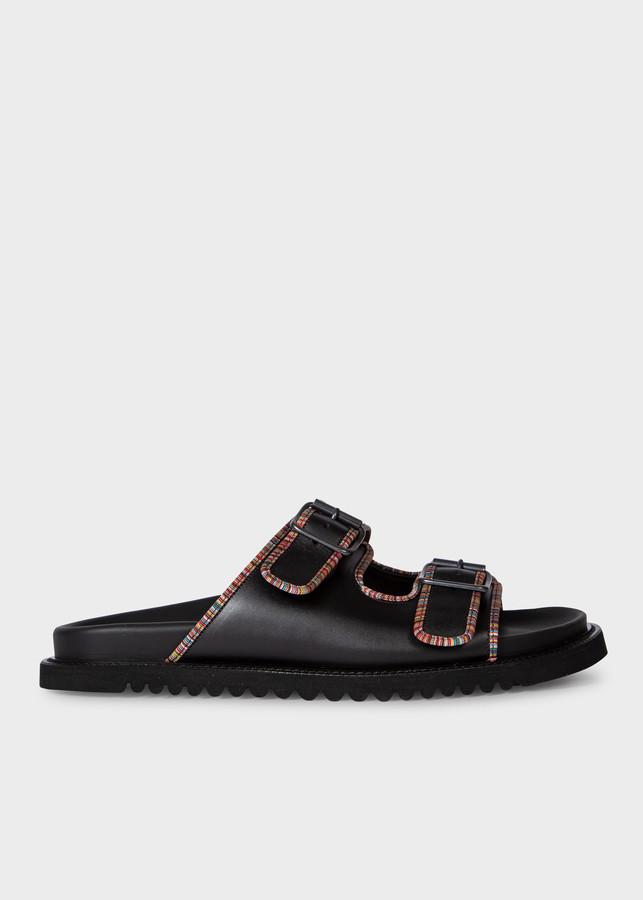 Paul Smith Men's Black Leather 'Phoenix' Sandals