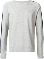 Officine Generale crewneck knit stripe sweatshirt