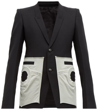 Rick Owens Pocket-detail Canvas Blazer - Mens - Black White