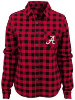 Juniors' Alabama Crimson Tide Buffalo Plaid Flannel Shirt