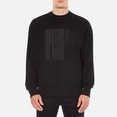 Alexander Wang Embroidered Barcode Logo Sweatshirt Black