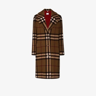 Burberry Purton Vintage Check Wool Coat