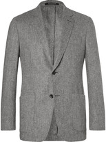 Richard James Grey Herringbone Slim-Fit Wool and Cashmere-Blend Blazer