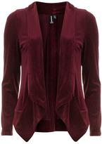 Burgundy flecked velvet blazer