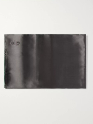 Slip Embroidered Mulberry Slipsilk Queen Pillowcase - Men - Gray