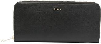 Furla Logo-Plaque Zip-Around Wallet