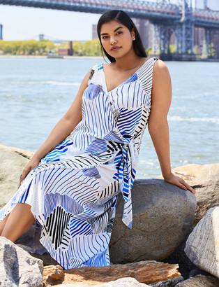 ELOQUII Printed Wrap Dress