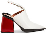 Marni Leather Mules - White
