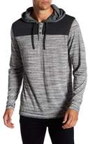 Burnside Long Sleeve Striped Henley Hoodie
