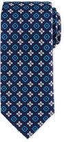 Eton Floral Square Foulard Silk Tie, Navy