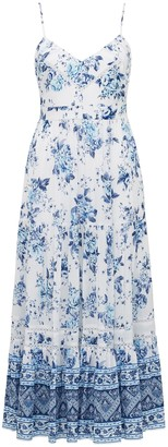Forever New Tanya Petite Tiered Maxi Dress - Blue Crush Floral - 10