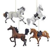 """Kurt Adler 5.25"""" Resin Horse Ornament 4/asstd: Tennessee Walking Horse, Andalusian, Arabian & Lippinzaner."""
