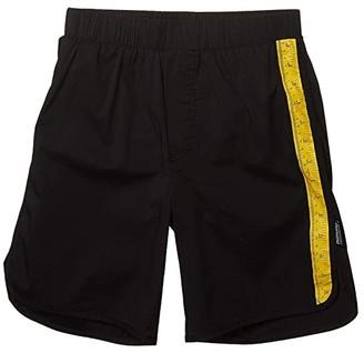 Nununu Measuring Band Surf Shorts (Little Kids/Big Kids) (Black) Boy's Swimwear