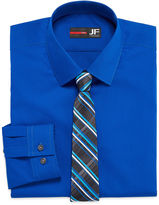 Jf J.Ferrar JF Long-Sleeve Easy-Care Dress Shirt and Tie Set