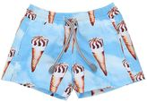 MC2 Saint Barth Ice Cream Cone Printed Nylon Swim Shorts