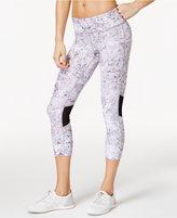 Calvin Klein Shimmer-Print Cropped Leggings