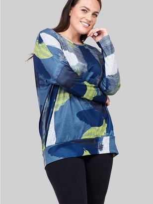 M&Co Izabel Curve watercolour print jumper
