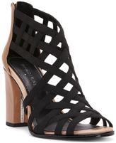 Donald J Pliner Women's KARRI - Basic Elastic and Patent Leather Heeled Sandal