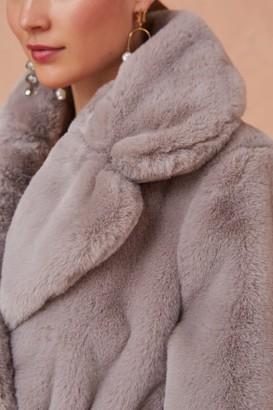 Keepsake STELLA FUR COAT dove grey