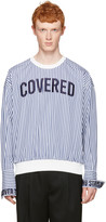 Juun.J White Striped 'Covered' Pullover