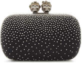 Alexander McQueen Classic skull and stud leather box clutch