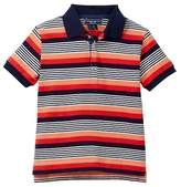 Toobydoo Maori Striped Polo (Toddler & Little Boys)