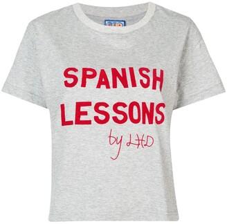 Lhd slogan print T-shirt