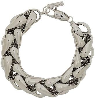LAUREN RUBINSKI 14kt White Gold Chunky Chain Bracelet