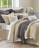 Sunham CLOSEOUT! Stafford 10-Pc. Full Comforter Set, Cotton/Linen