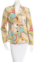 Etro Long Sleeve Printed Blazer
