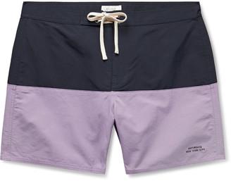 Saturdays NYC Ennis Mid-Length Colour-Block Swim Shorts