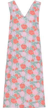 Jil Sander Floral-jacquard Midi Dress