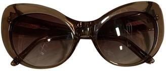Agent Provocateur Brown Plastic Sunglasses