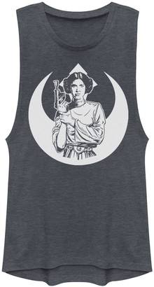 Licensed Character Juniors' Star Wars Simple Rebel Princess Muscle Tee