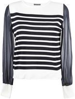 Alberta Ferretti sheer sleeves knitted blouse - women - Silk/Cotton - 40