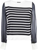 Alberta Ferretti sheer sleeves knitted blouse